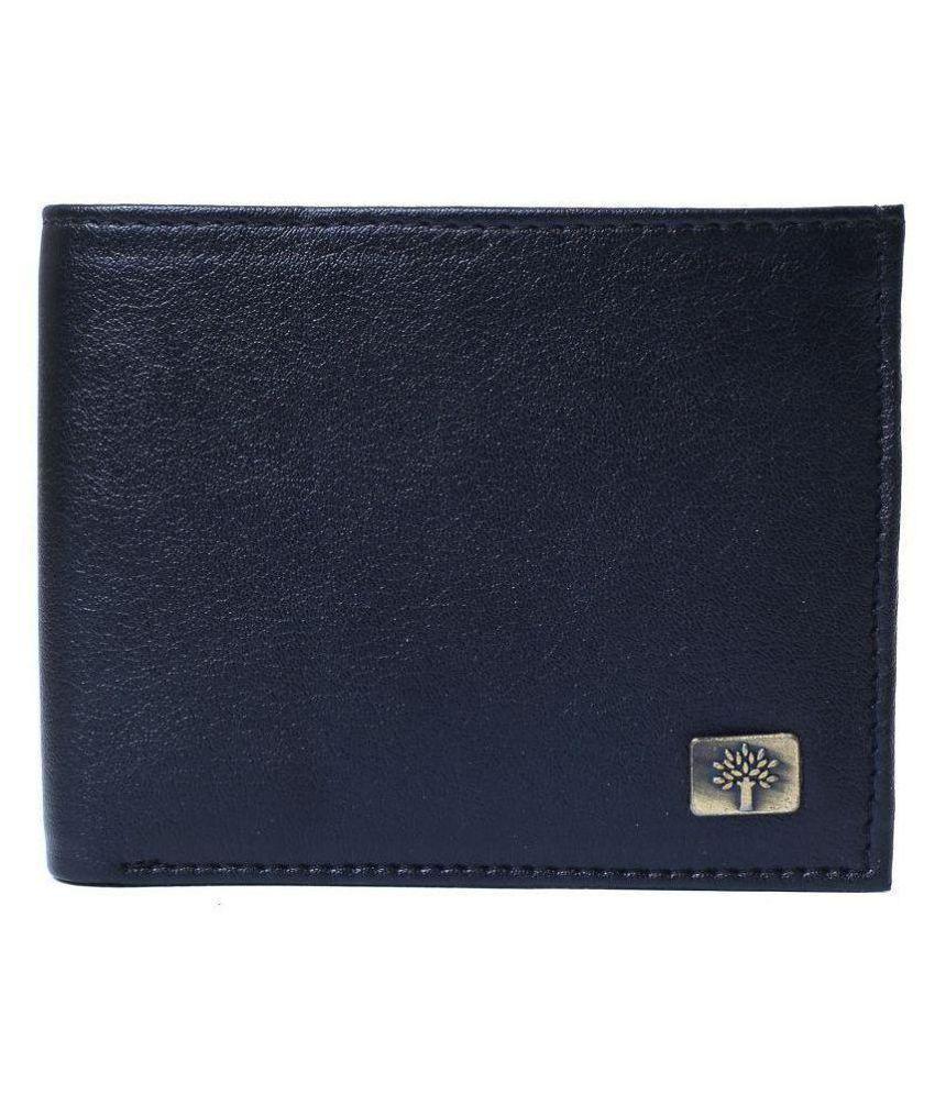 Woodland Leather Black Casual Regular Wallet