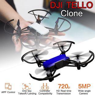 DJI Tello Clone!!! 720P WiFi FPV RC Drone Mini 3D Flips Quadcopter