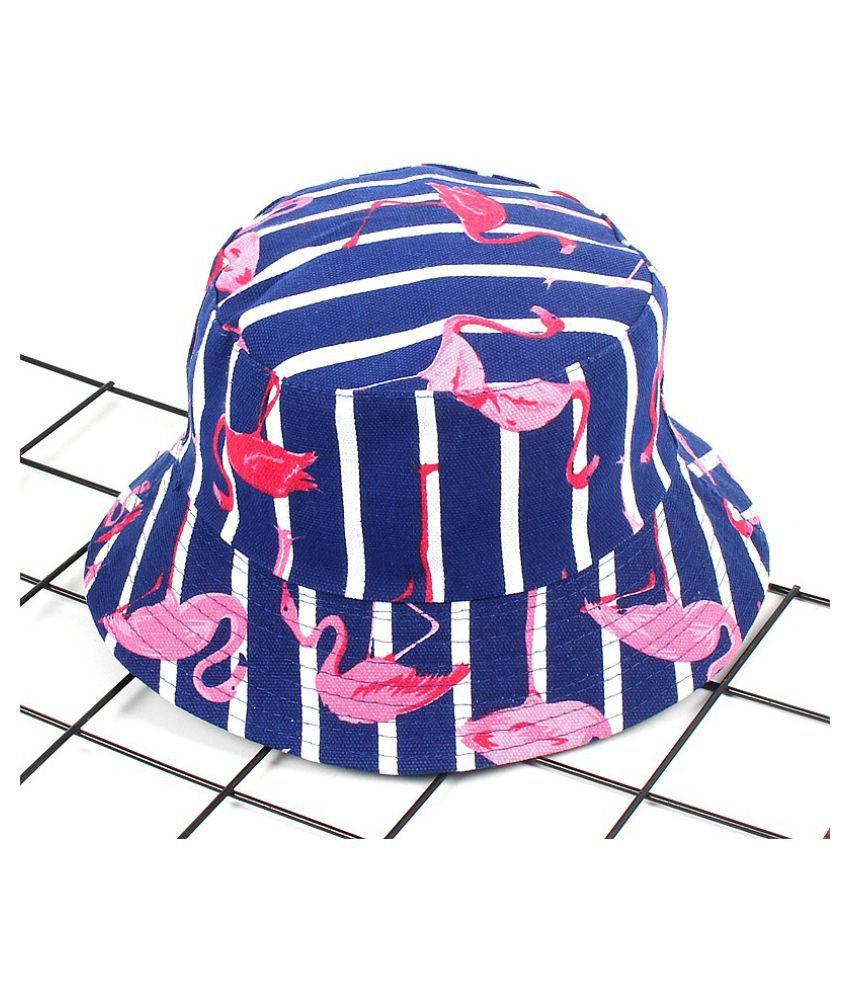 87a7f0fde6a ... Fashion Tropical Plant Double Side Bucket Hat Flamingo Leaf Boonie Hat  Men and Women s Sun Hat ...
