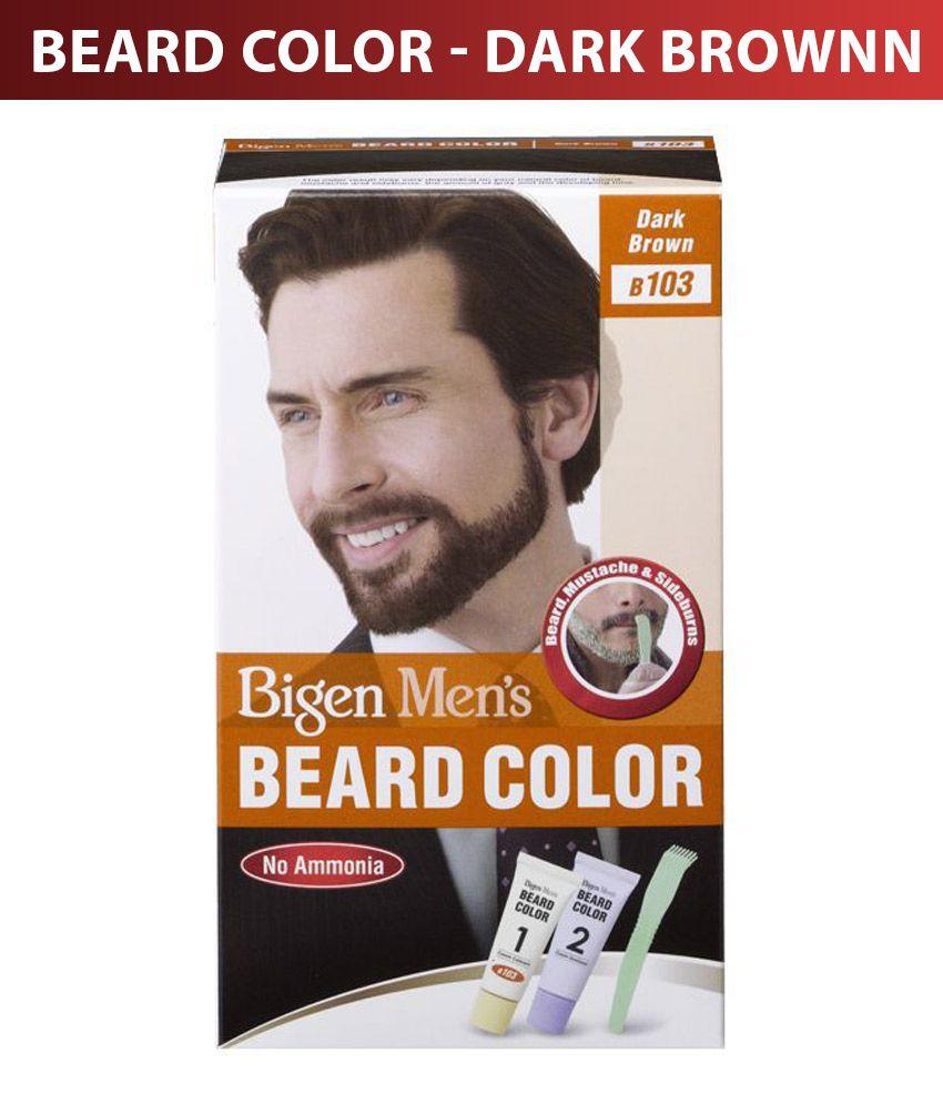 Bigen Men\'s Beard Color B-103 Dark Brown: Buy Bigen Men\'s Beard ...
