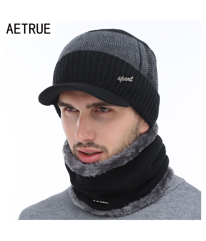 Winter Hats Skullies Beanies Hat Winter Beanies For Men Women Wool Scarf  Caps Balaclava Mask Gorras Bonnet Knitted Hat  Buy Online at Low Price in  India - ... c229c919b28