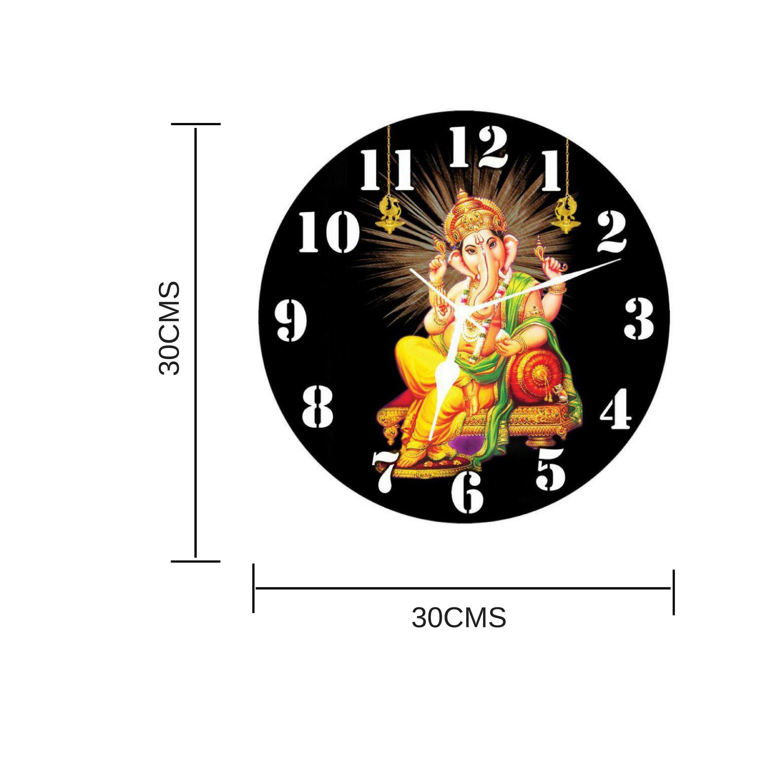 3D India Circular Analog Wall Clock 3D LORD GANESHA JI 30 Buy 3D
