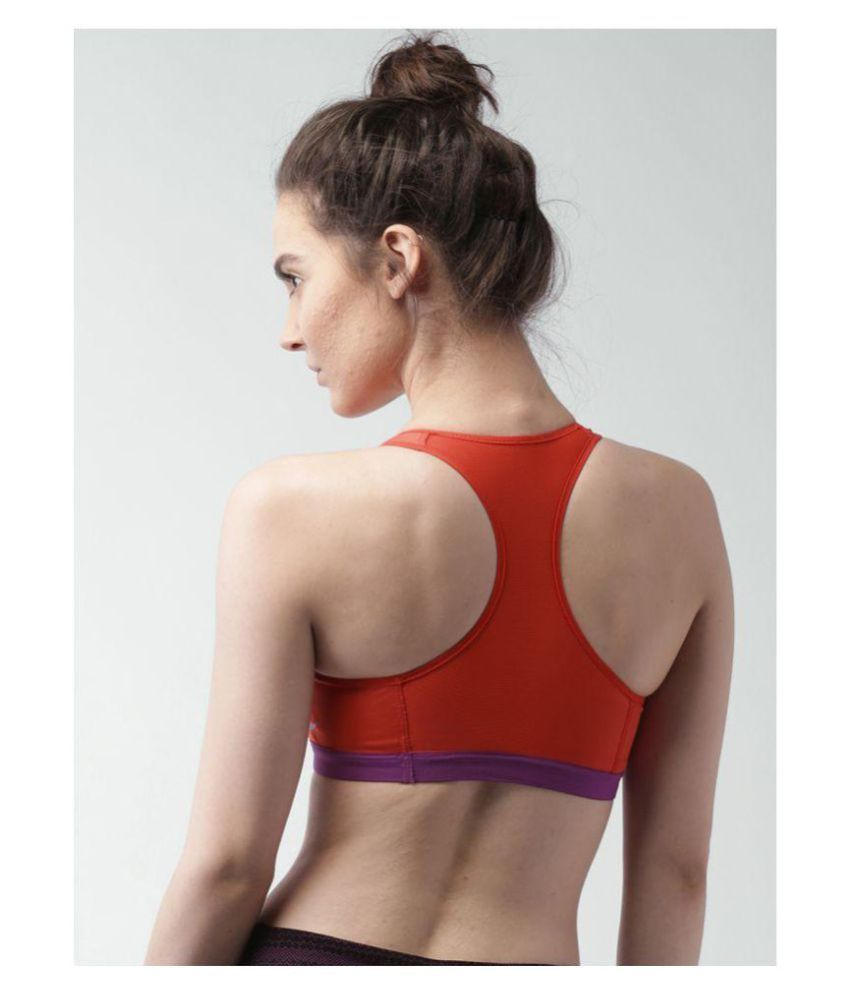 902c30d34d348 Buy Nike Polyester Sports Bra - Orange Online at Best Prices in ...