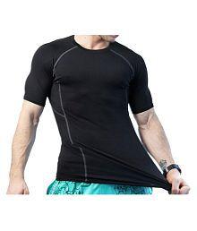 e86b5644c8 Quick View. Zesteez Black Half sleeves Men ultra stretchable gym-workout  compression ...
