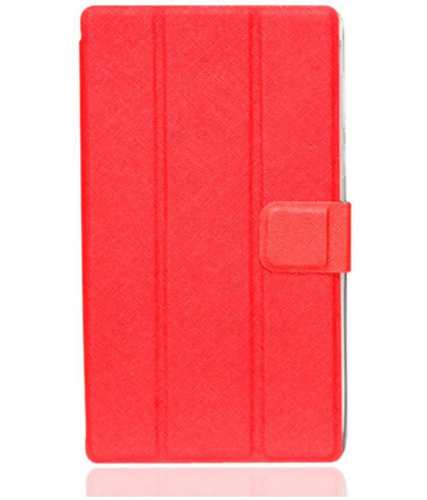 Lenovo TAB 3  7.0 #034;  / A7 10L Flip Cover By Generic Brand Red