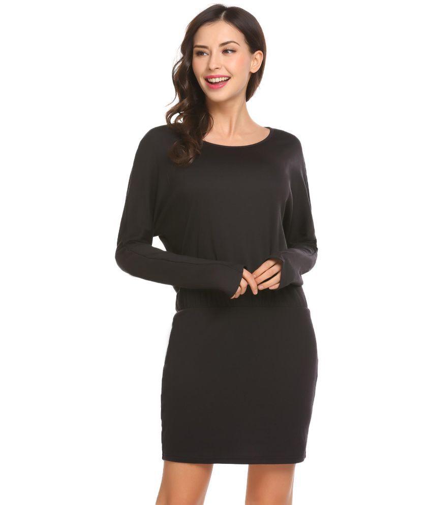 Generic Cotton Black Pencil Dress