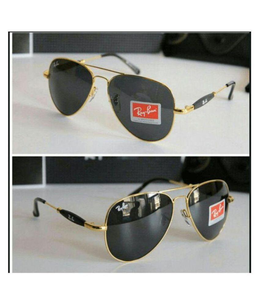 Rayban Stylish Sunglasses Brown Aviator Sunglasses ( 3517 )