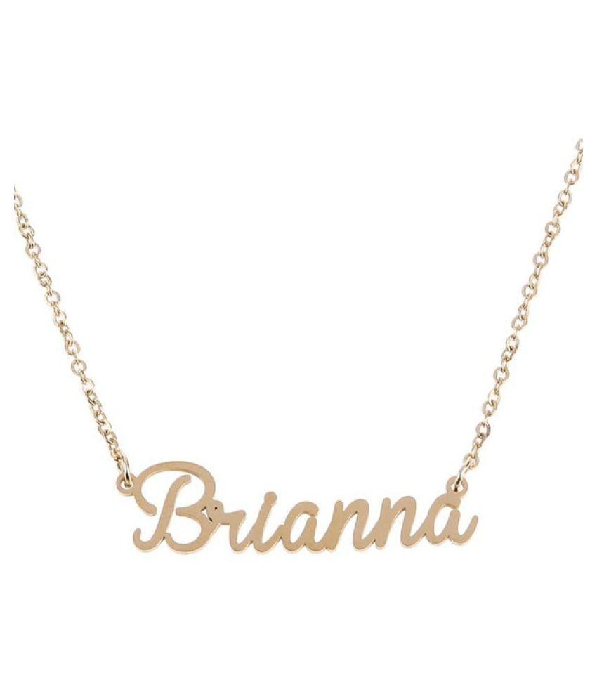 Kamalife Fashion Uni Women Men Customized Cursive Custom Name Collar Chain Nameplate Pendant Necklace Jewelry Romantic Gift