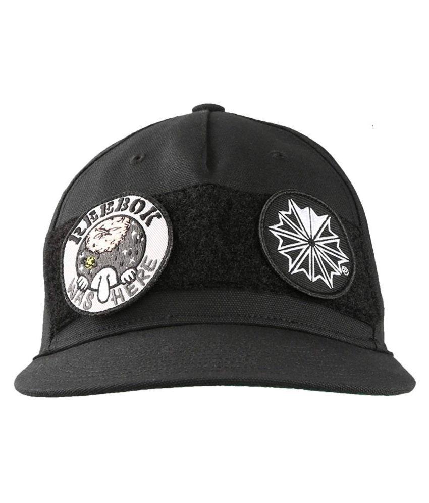 Reebok Black Printed Polyester Caps