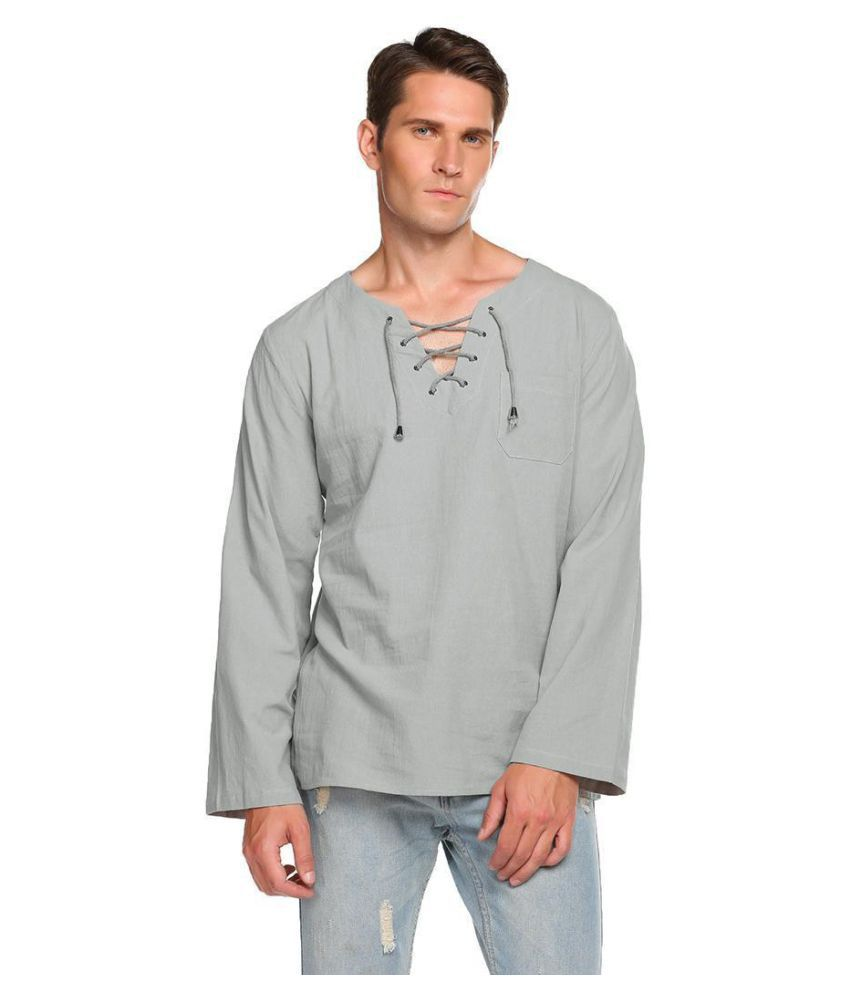 Generic Blue V-Neck T-Shirt