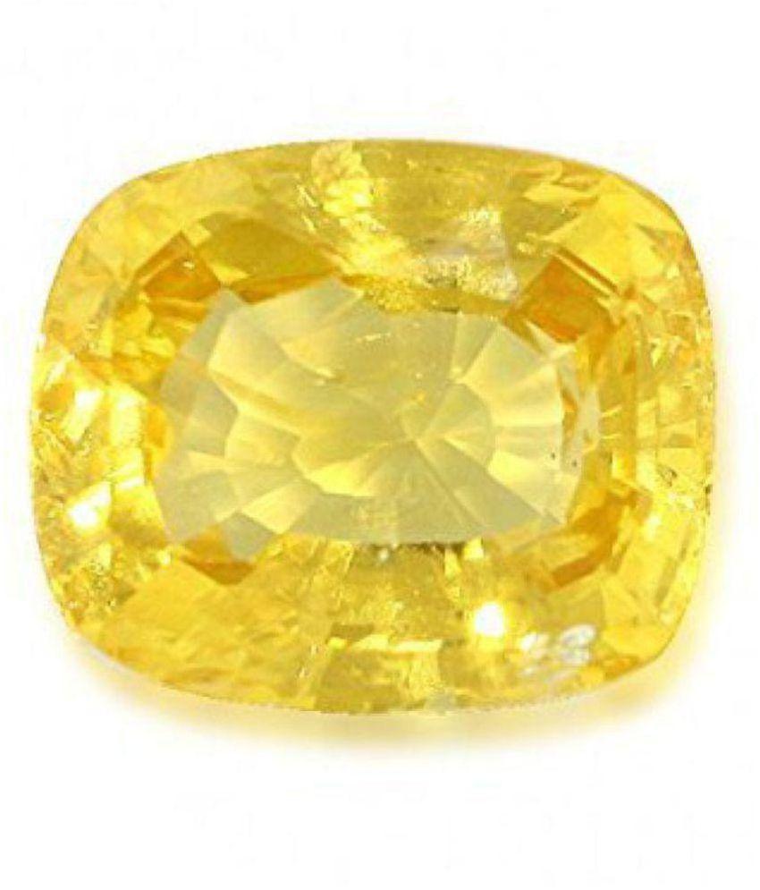The Gallery 5.25 -Ratti IGL&I Yellow Yellow Sapphire (Pukhraj) Precious Gemstone