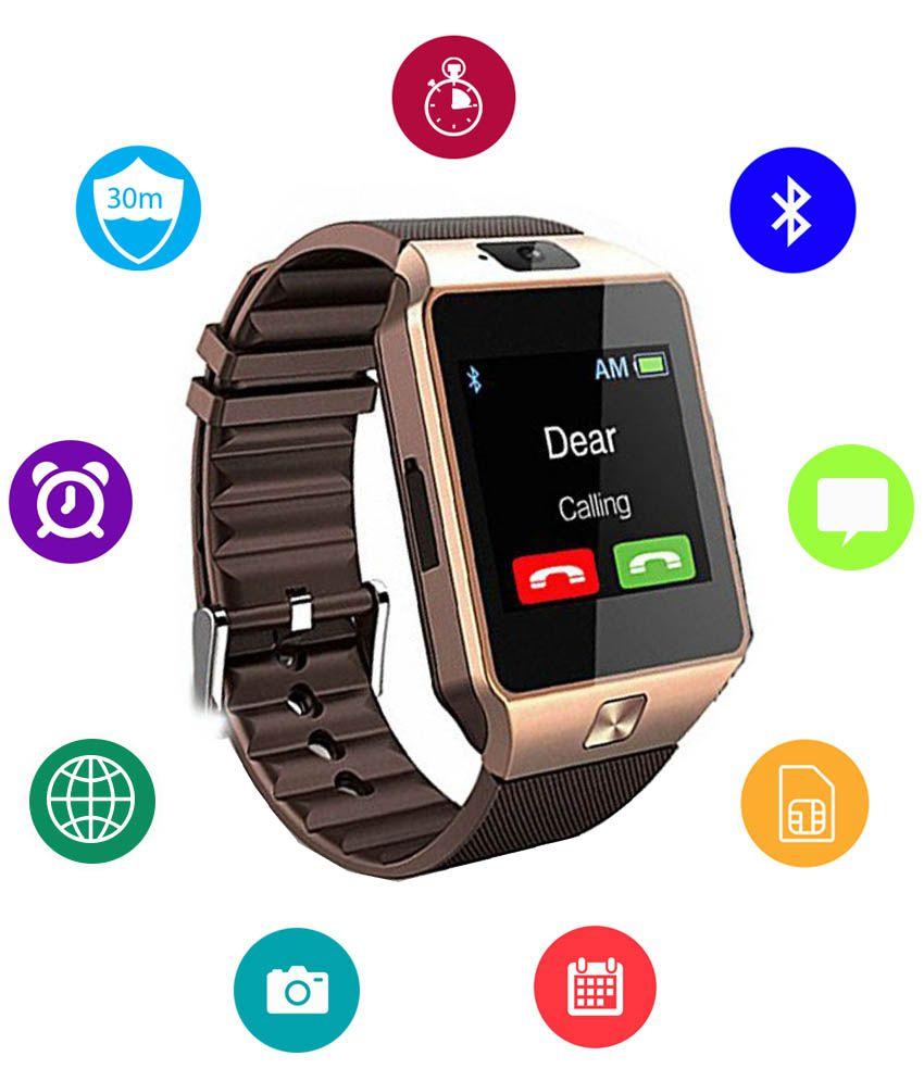 88cfac39b87 JM Digital Smart Watch (Brown) with Call Function Price in India  Buy JM  Digital Smart Watch (Brown) with Call Function Online at Snapdeal