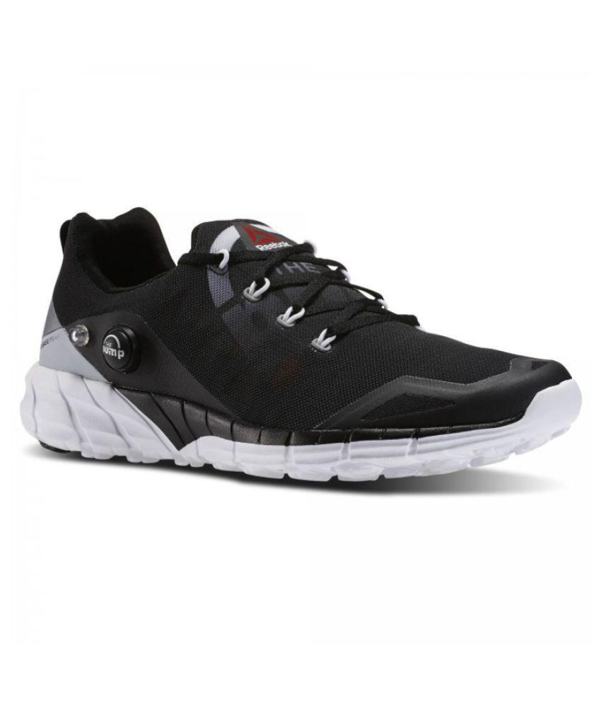 reputable site 3357c 831f6 Reebok PUMP Black Running Shoes - Buy Reebok PUMP Black Running Shoes Online  at Best Prices in India on Snapdeal