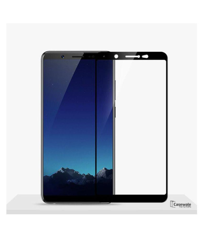vivo V7 plus 5D Tempered Screen Guard By GLAZE UV Protection,  Anti Reflection.