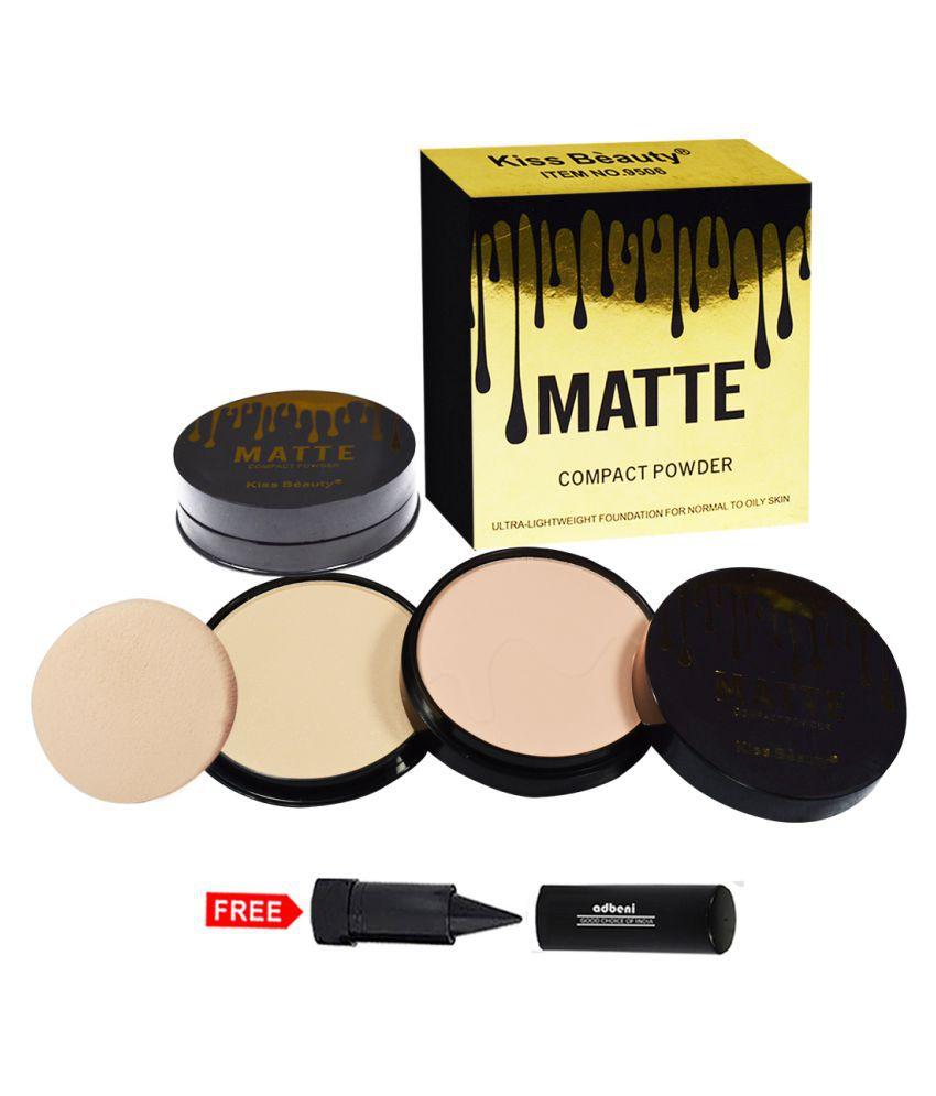 Kiss Beauty Matte Compact Powder 9506-02 Pressed Powder Peach 20 gm