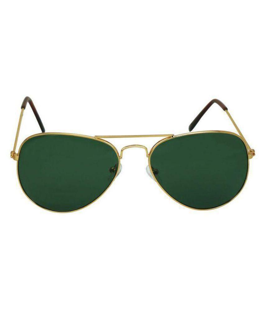 YAARA Green Aviator Sunglasses ( GREEN GOLD )