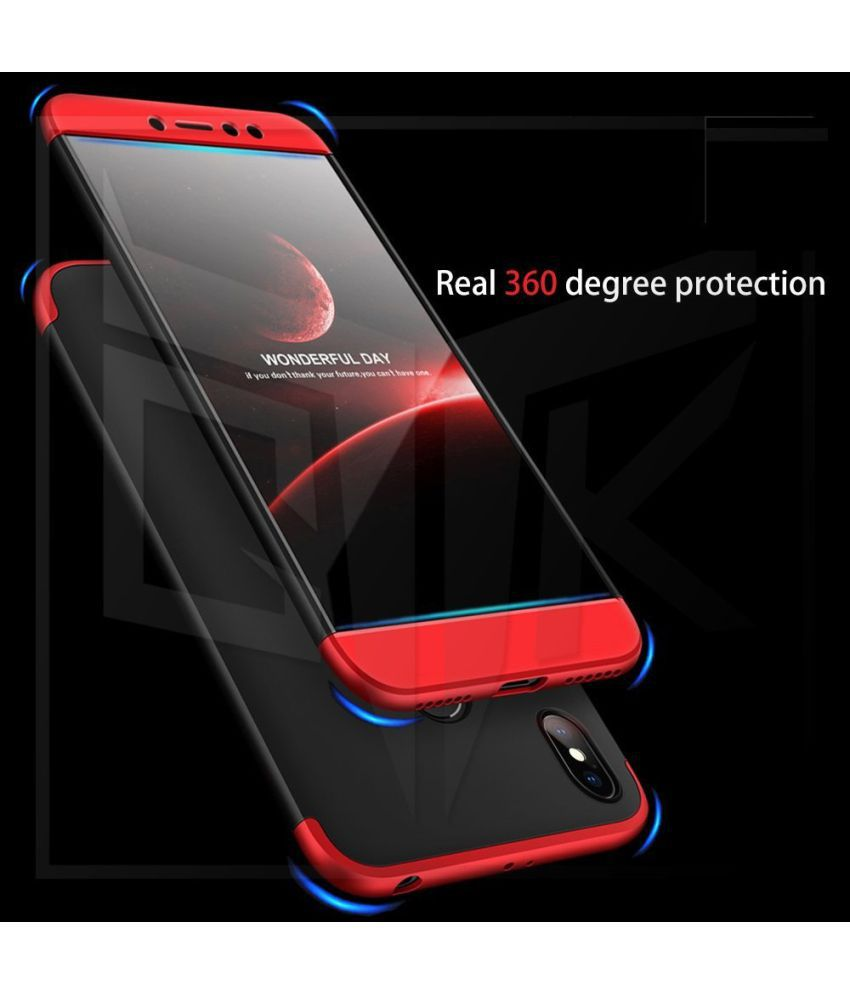 reputable site 86593 07f28 Asus Zenfone Max Pro M1 Flip Cover by Shanice - Red GKK 360 iPacky Cover