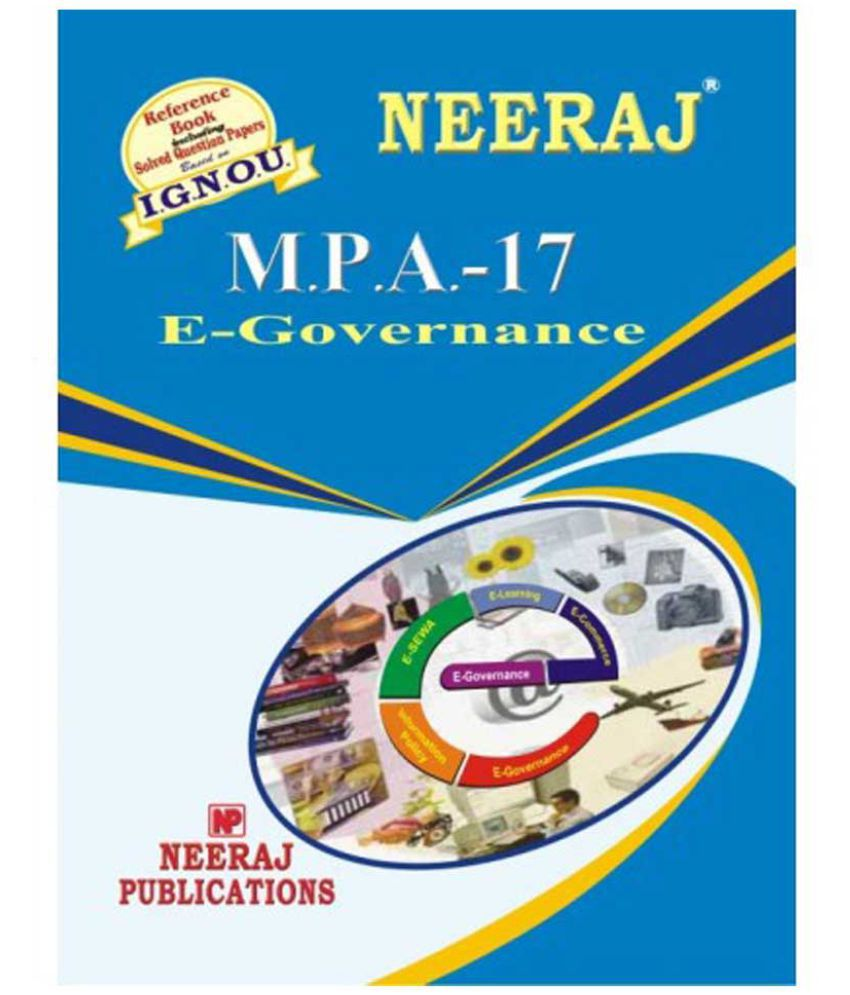 IGNOU MPA-17 Electronic Governance (2nd Year)(including solved question papers)(M.A)