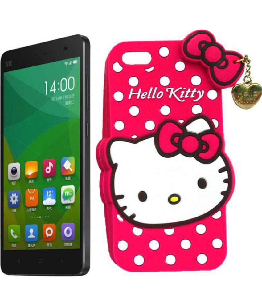 pretty nice c058a a74f0 Xiaomi Redmi 4 Plain Cases Doyen Creations - Pink 3D Hello Kitty