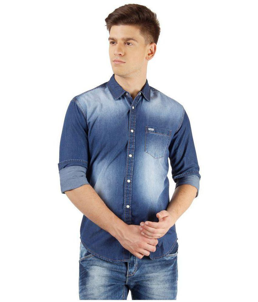 9ecae368520 Pepe Jeans Blue Skinny Fit Shirt - Buy Pepe Jeans Blue Skinny Fit Shirt  Online at Best Prices in India on Snapdeal