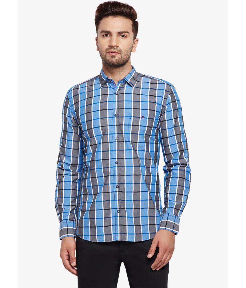 Crimsoune Club Blue Slim Fit Shirt