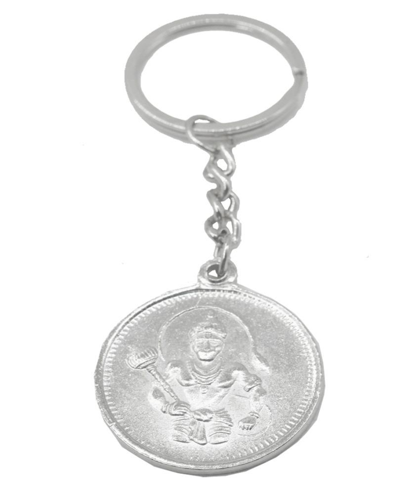 Faynci Lord Hanuman with Om Key Chain for Gifting, Good Luck and Protection