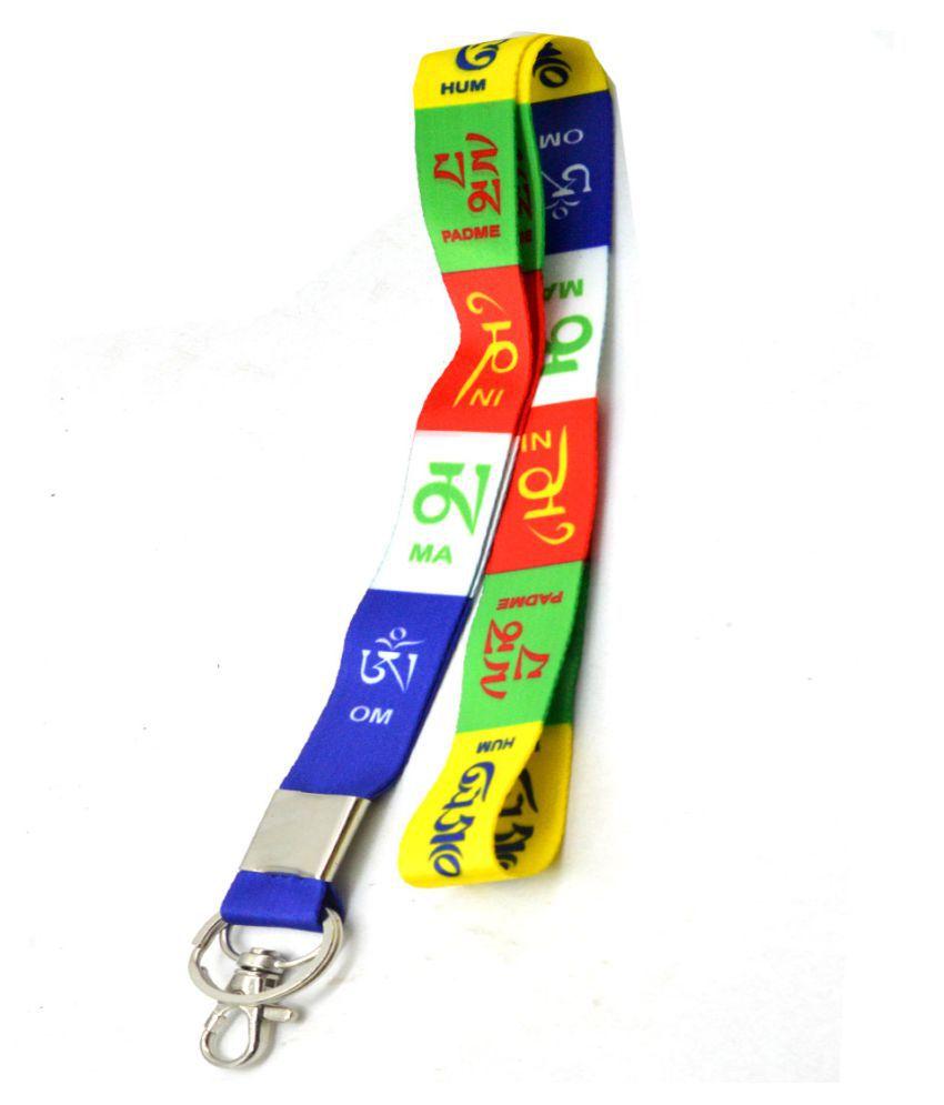 Faynci Premium Quality Fabric Tibetan Ladakh Prayer Hook Key Chain for Bike Lover