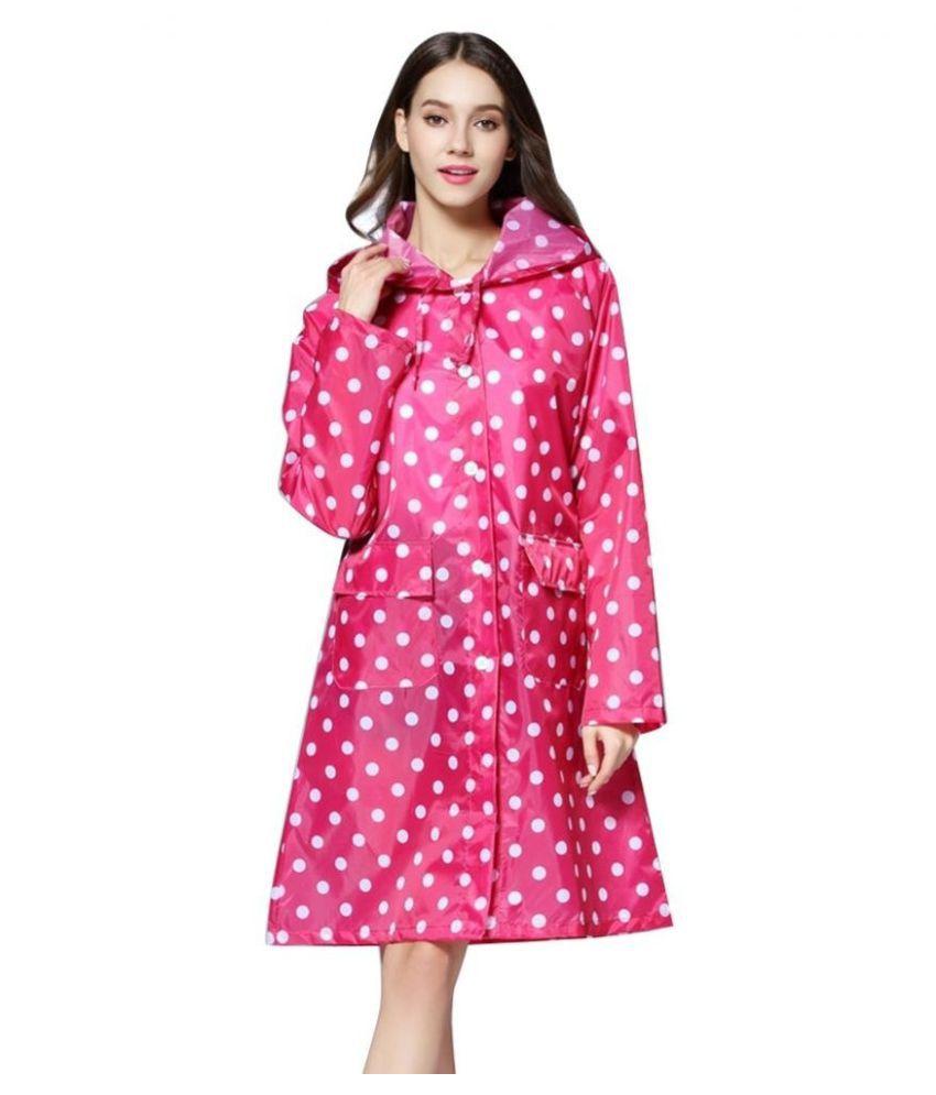 Changing Destiny Waterproof Long Raincoat - Pink