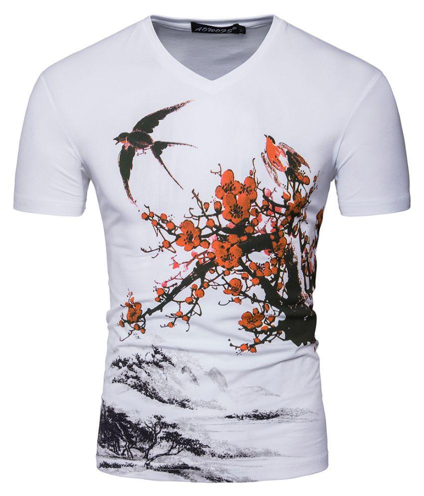 Duomu White Round T-Shirt