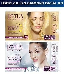 Lotus Herbals Gold & Diamond Combo Facial Kit