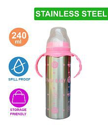 Toys Factory Baby' feeding Bottle In Steal & Beautiful Print 240ml