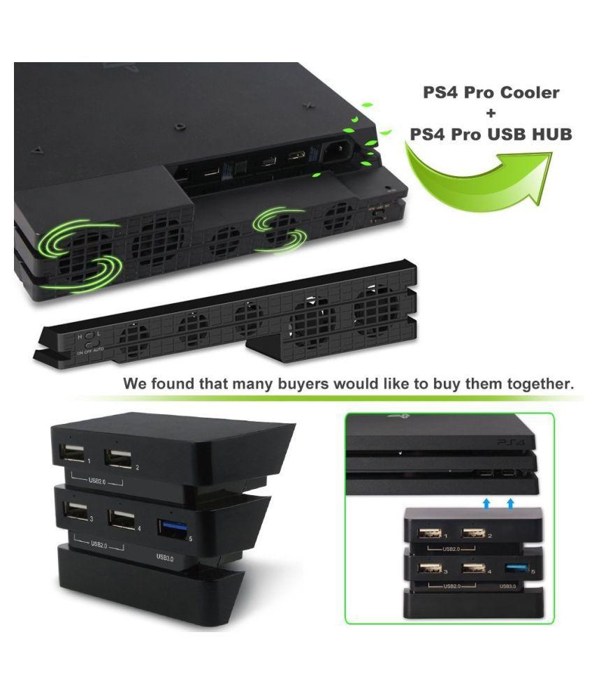 ZXG 175 DOBE New Set PS4 Pro Cooler-USB External 5-Fan Su TableFan