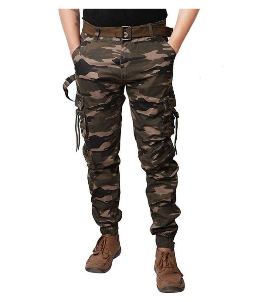 A3Fashion Multicolored Regular -Fit Flat Cargos