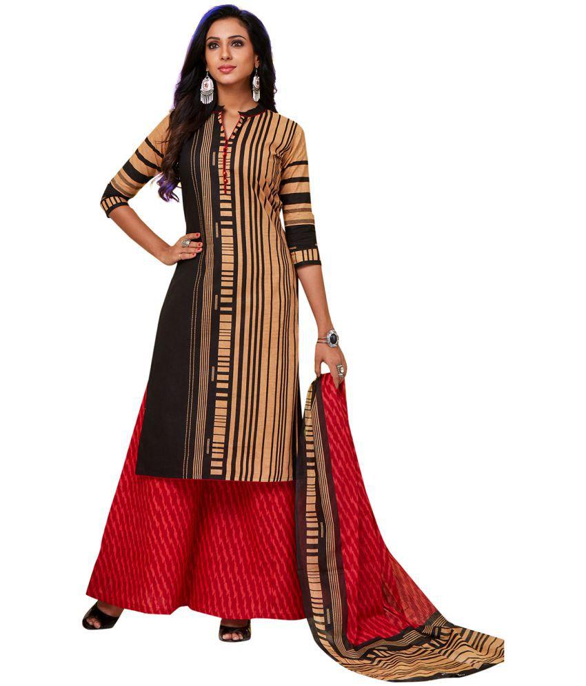 Jevi Prints Multicoloured Cotton Dress Material