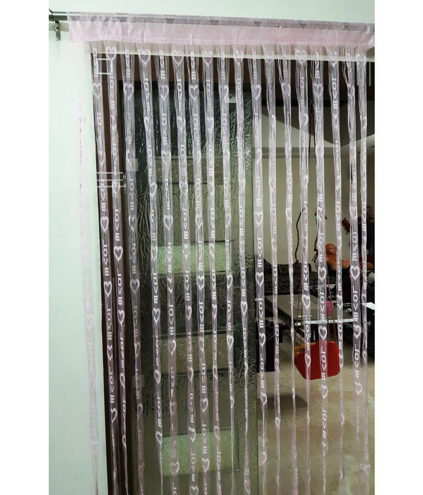 Homefab India Set of 2 Door Heart String Curtain