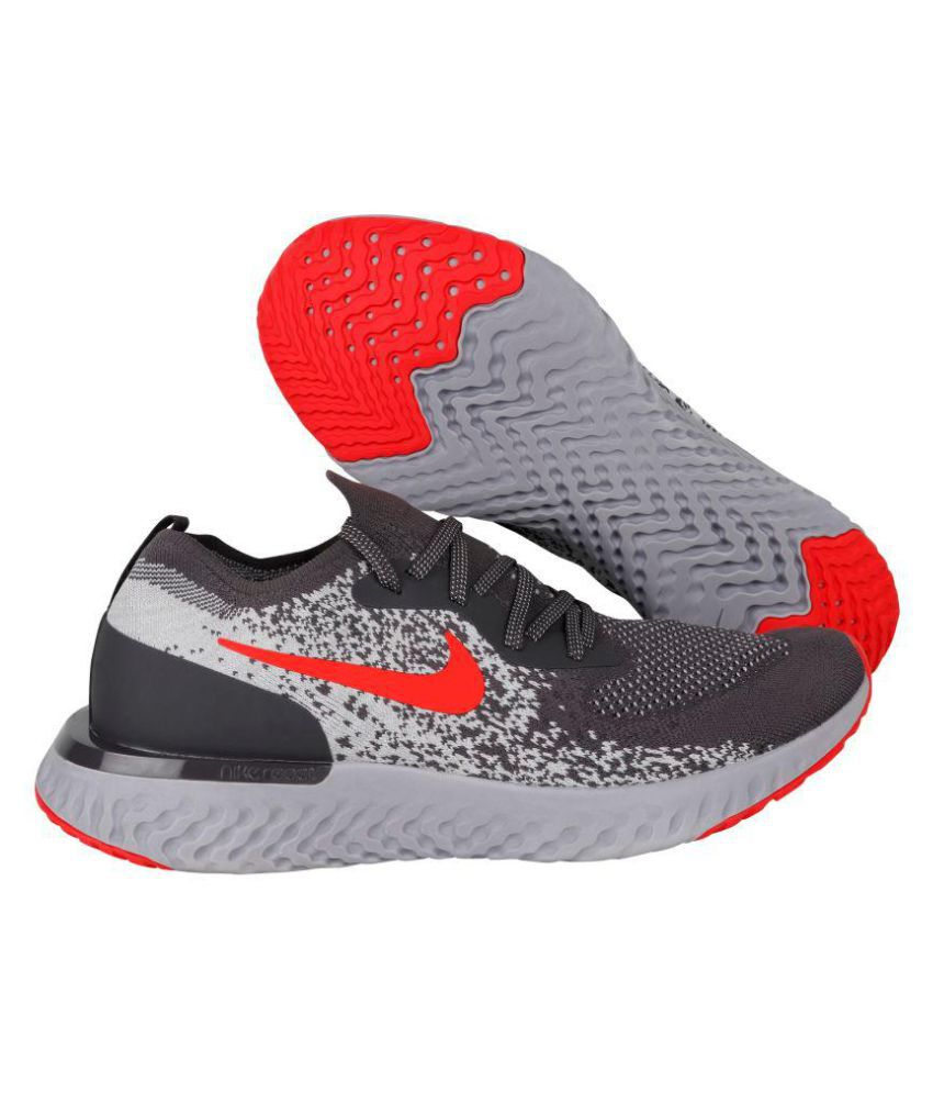 new specials new arrival details for Nike EPIC REACT FLYKNIT Silver Running Shoes - Buy Nike EPIC REACT ...