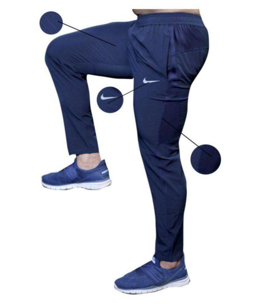 e130d417a0653 Nike Black Polyester Lycra Gymwear Trackpants Nike Black Polyester Lycra  Gymwear Trackpants ...