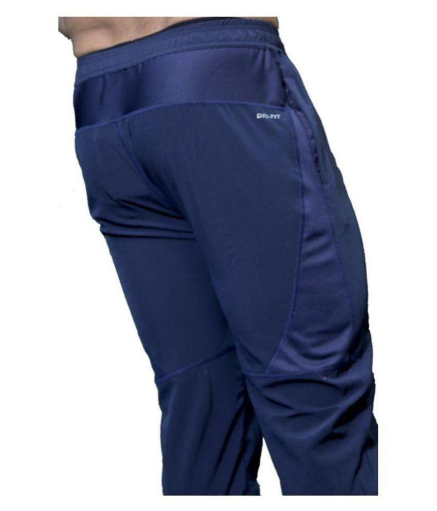 92b6ace5fb266 Nike Black Polyester Lycra Gymwear Trackpants: Buy Online at Best ...