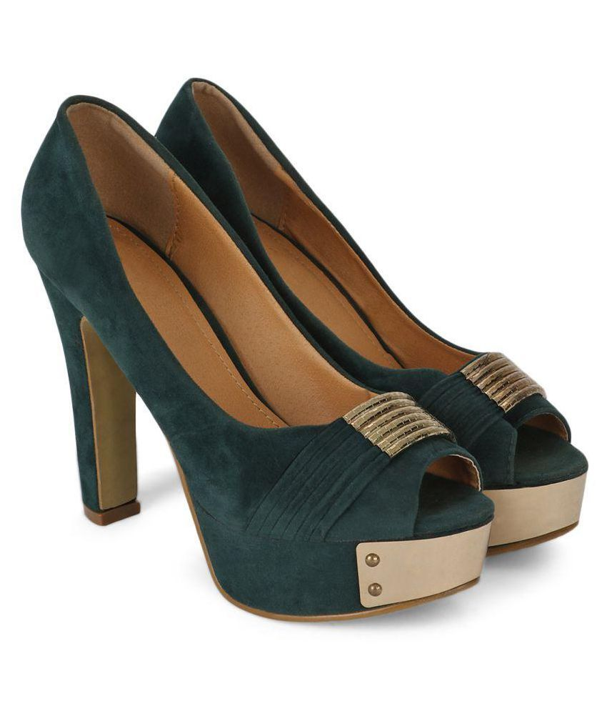 Bello Pede Olive Cone Heels