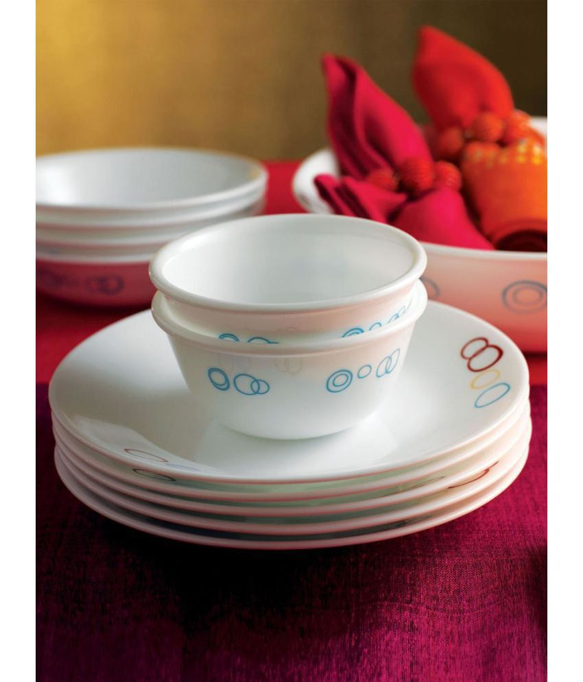 Corelle Glass Dinner Set of 14 Pieces