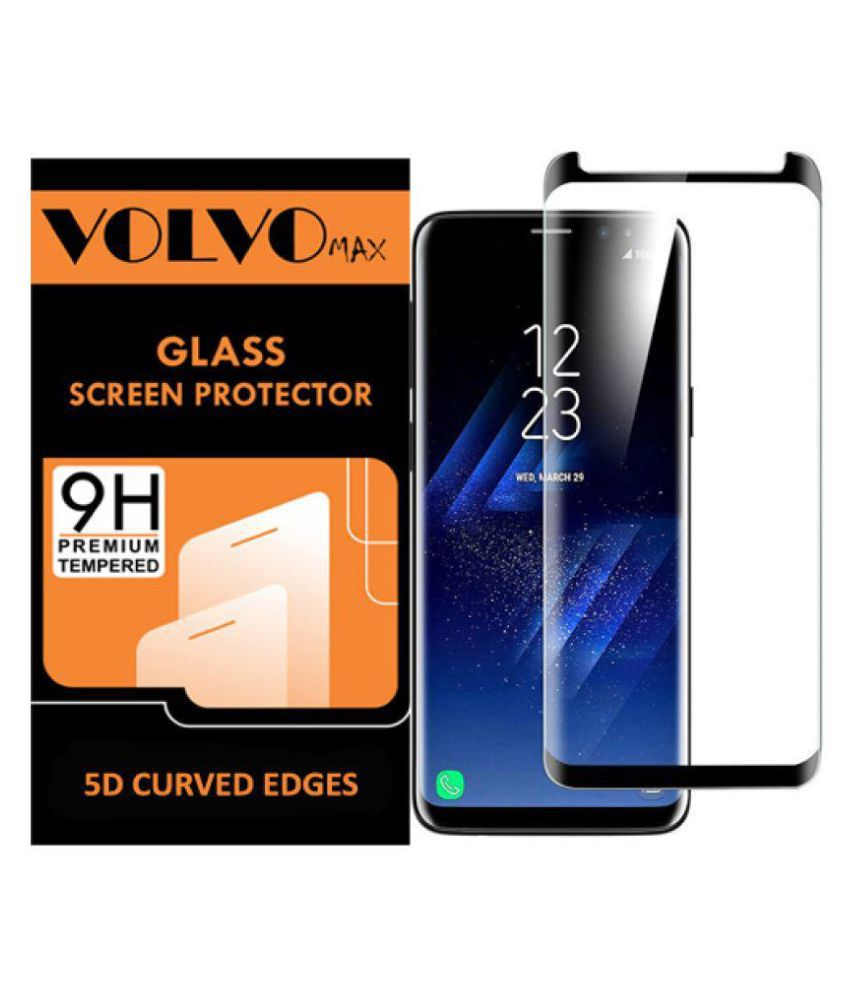 Samsung Galaxy S9 Plus 5D Tempered Screen Guard By Volvo Max Full Glue with Precise Curve Edges