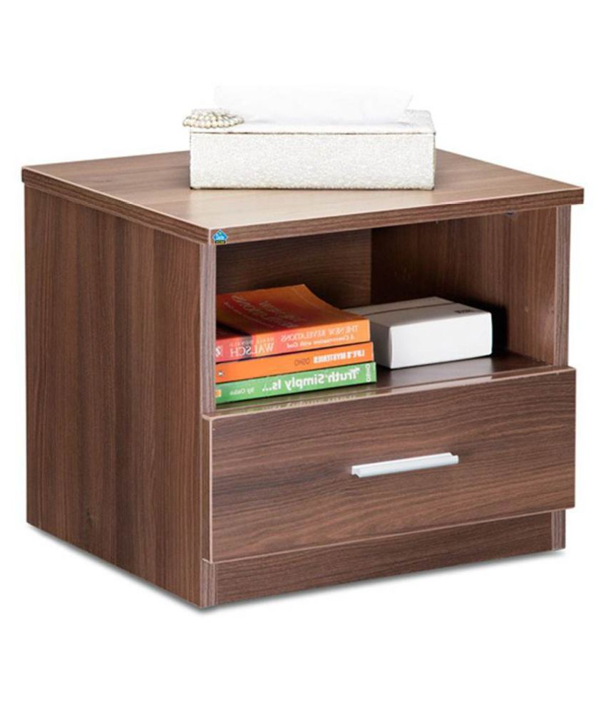 Delite Kom Bed Side Table Engineered Wood Bedside Table  (Finish Color - Acacia Dark)