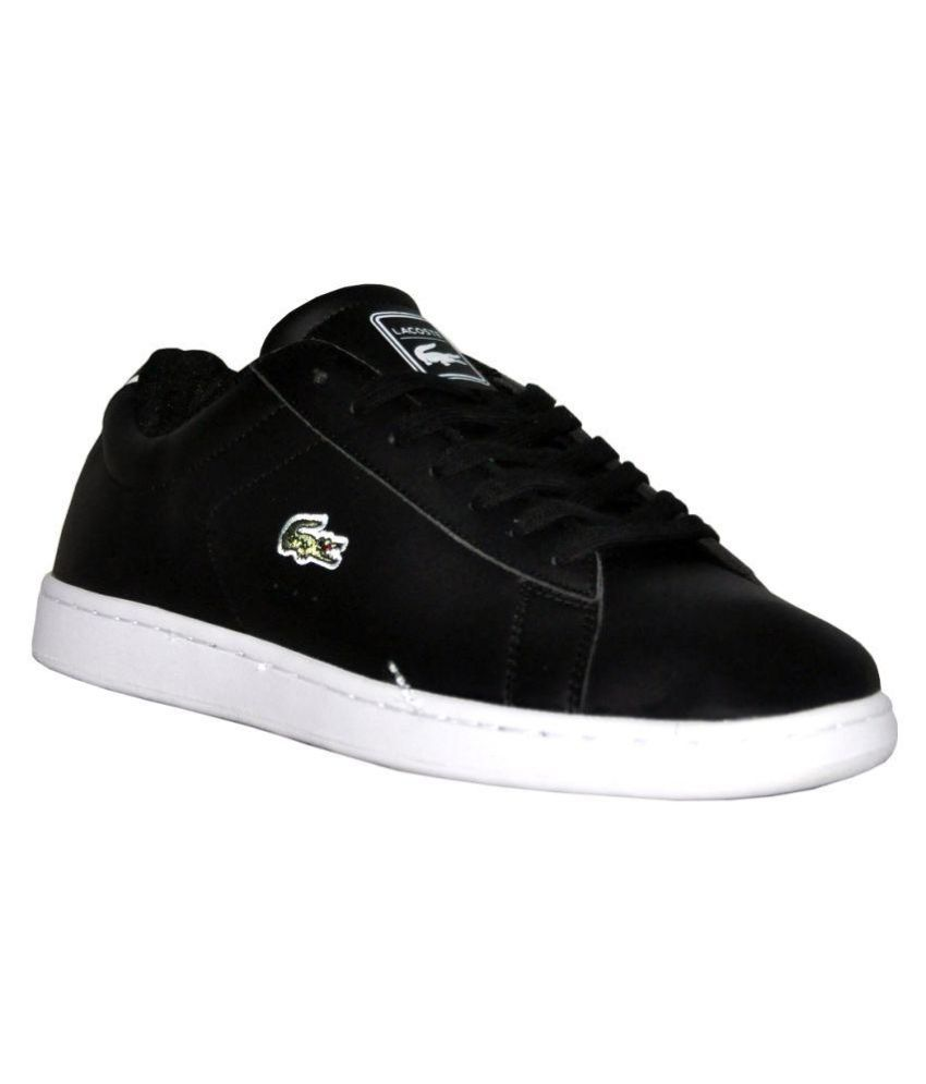 abcbc03ace Lacoste Sneakers Black Casual Shoes - Buy Lacoste Sneakers Black Casual  Shoes Online at Best Prices in India on Snapdeal