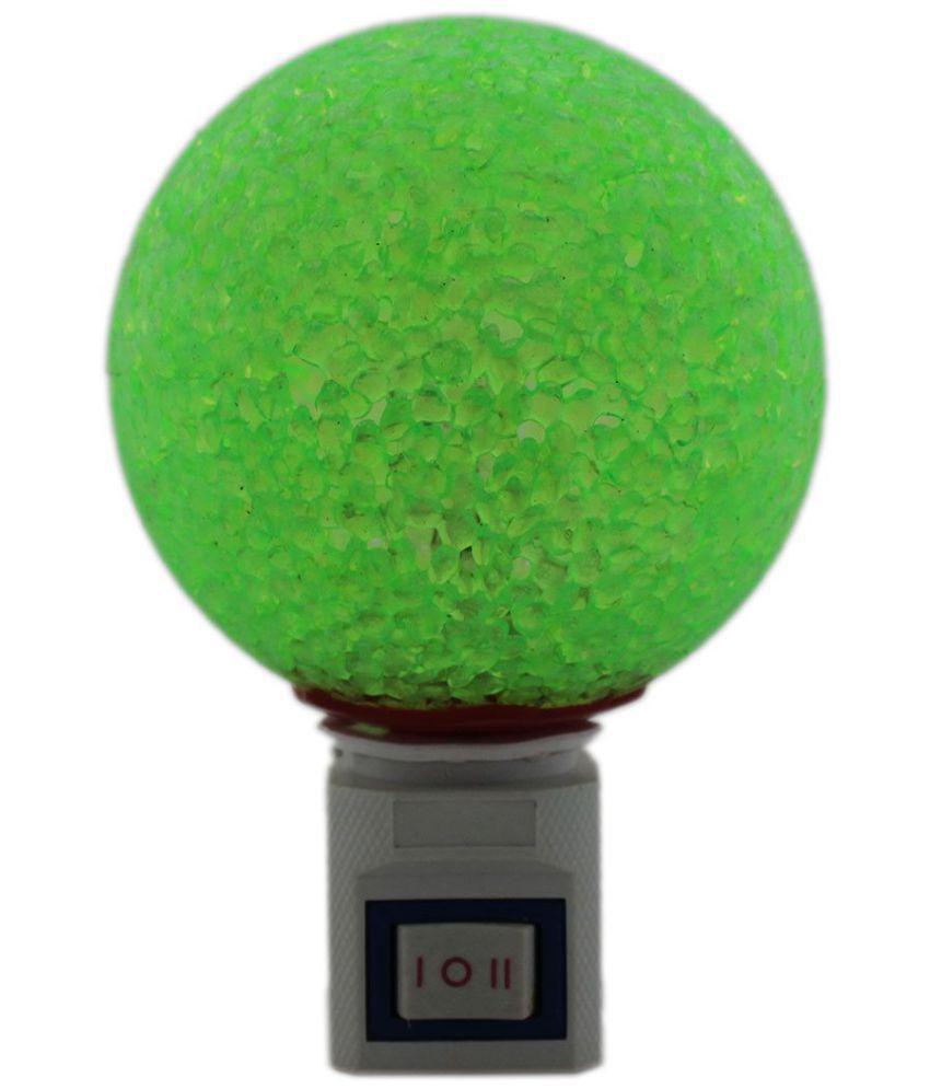 Tootpado Night Lamp Plug-in Wall  - Green (7ELE20) Night Lamp Green - Pack of 1