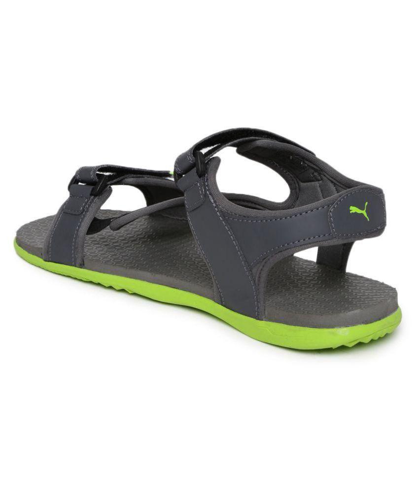 94d3e4ad477fb3 Puma Men Elego 2 IDP Sports Gray Sandals Price in India- Buy Puma ...