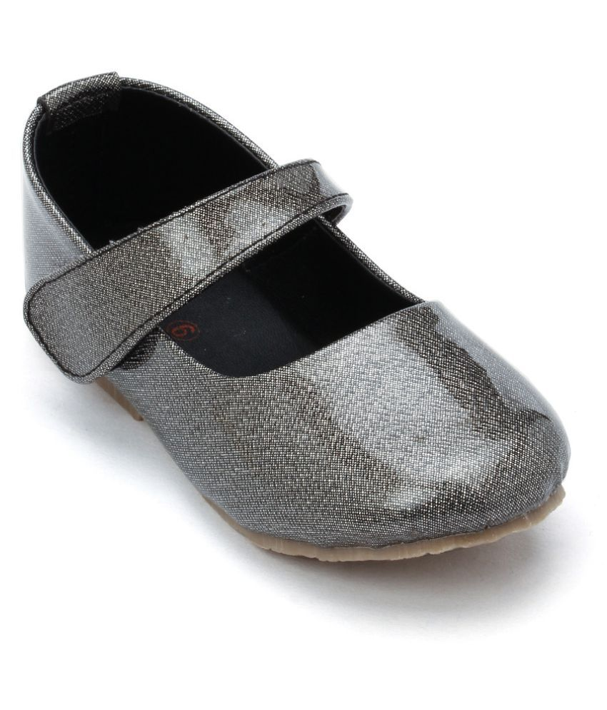 SPRING BUNNY - Toddler Girl 'Shine On' Midnight Gray Mary Jane Shoes