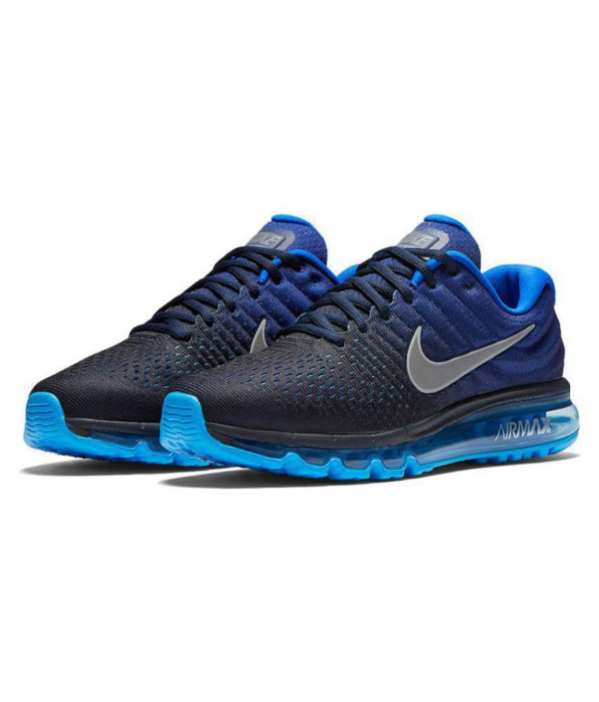 e9acbfc5fe4 Nike AIRMAX 2017 ALL COLOUR Blue Running Shoes - Buy Nike AIRMAX 2017 ALL  COLOUR Blue Running Shoes Online at Best Prices in India on Snapdeal