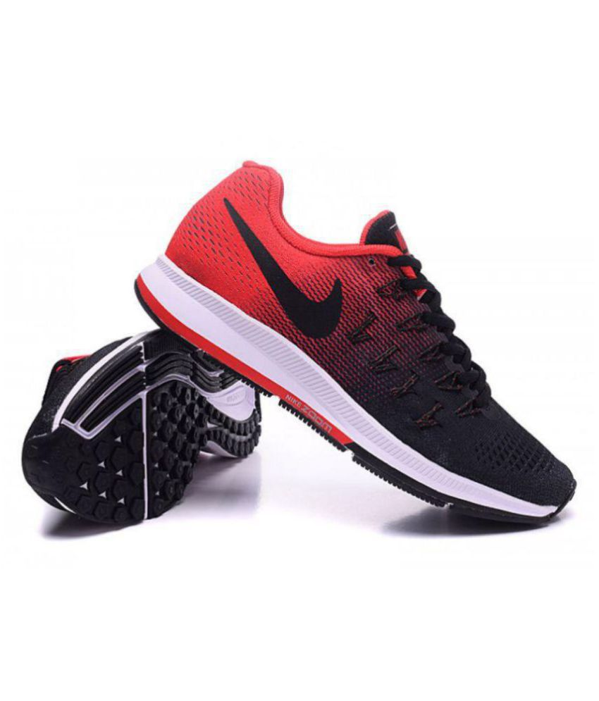 f8c528436764 ... Nike Air zoom 33 pegasus Pegasus 33 Black Red Black Running Shoes ...