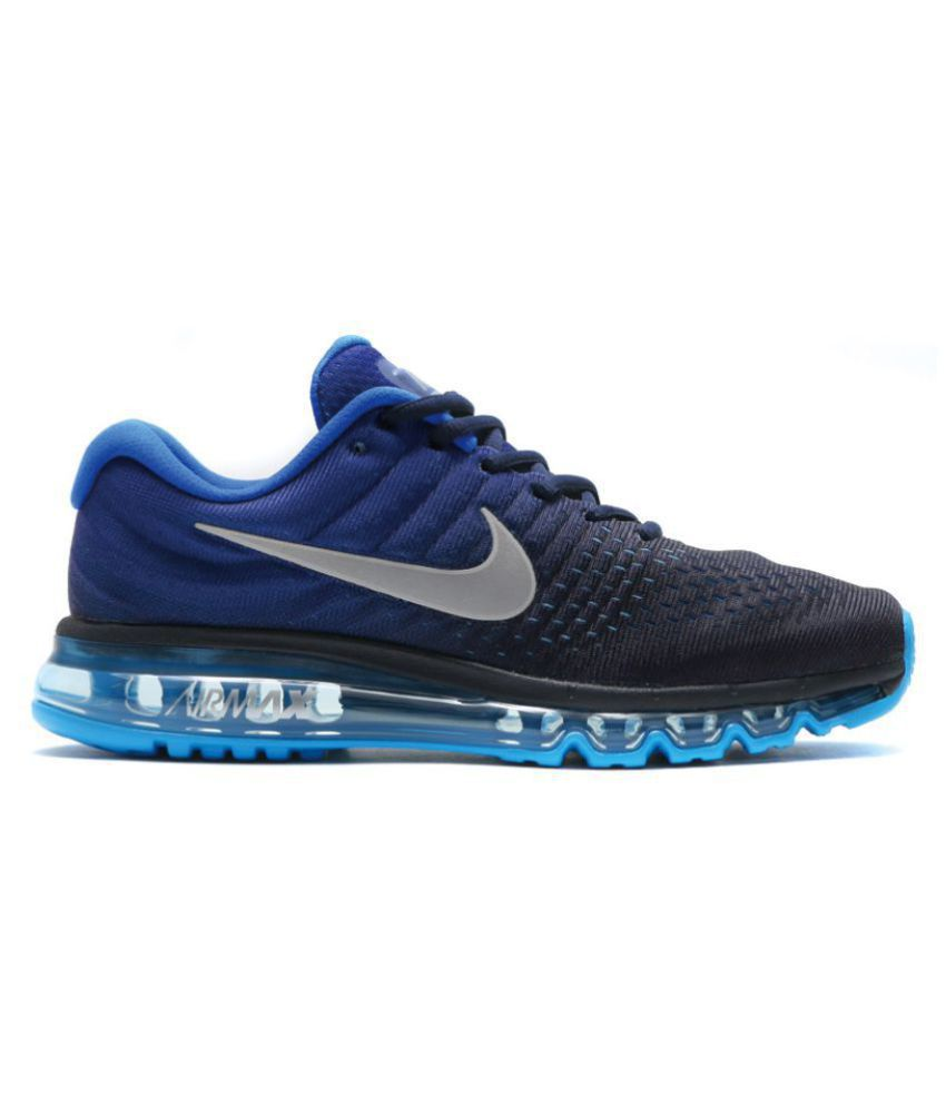 de4eaff893e91f Nike Airmax 2017 Blue Running Shoes - Buy Nike Airmax 2017 Blue Running  Shoes Online at Best Prices in India on Snapdeal