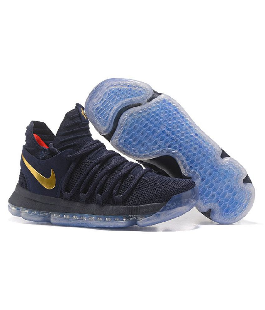 low priced 95b11 d2572 Nike KD 10 Navy Basketball Shoes